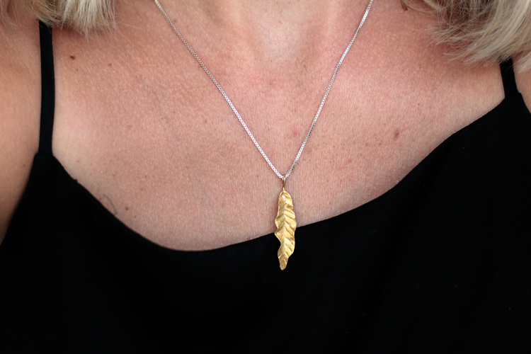 Thin Leaves Halsband - Gold