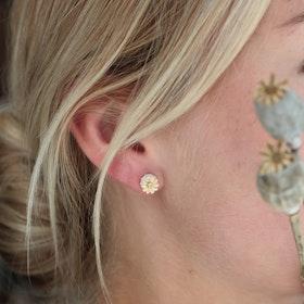 Poppy Stud Earrings, silver
