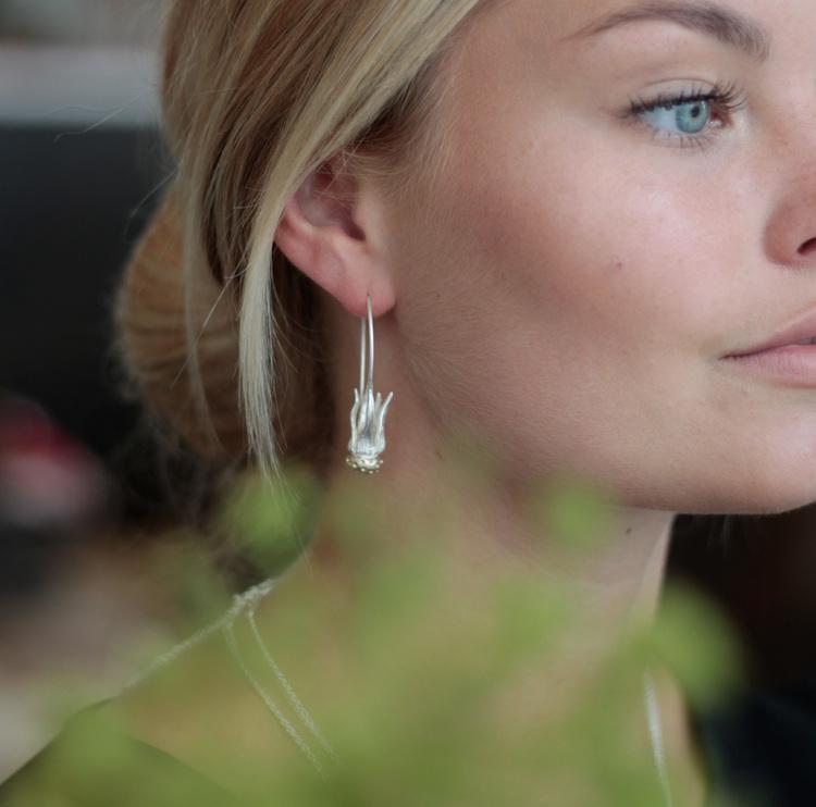 Dandelion Örhängen - Silver