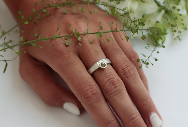 Misty Forest Moonlight Ring - Silver