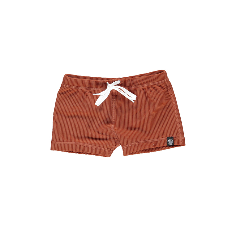 Earth ribbed swimshorts
