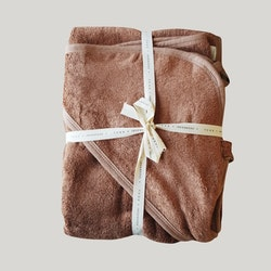 BABY HOODED TOWEL - TERRACOTTA
