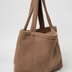 CHUNKY TEDDY MOM BAG BROWN
