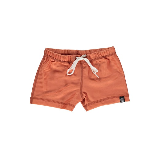 Clay ribbed swimshorts