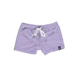 Lavender ribbed swimshorts