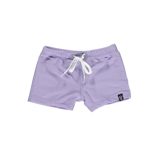 Lavender ribbed swimshorts