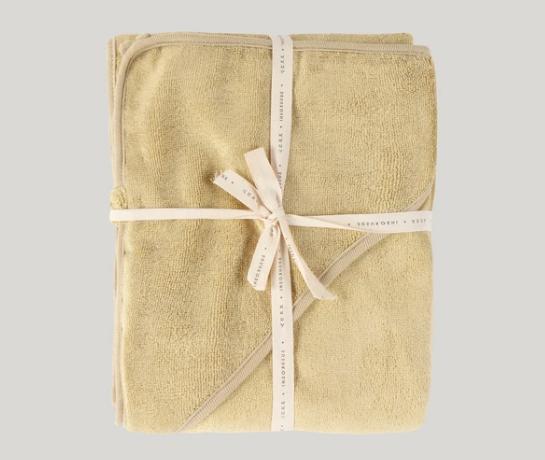 BABY HOODED TOWEL - PASTEL LEMON