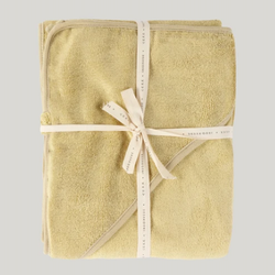 BABY HOODED TOWEL - PASTEL LEMON