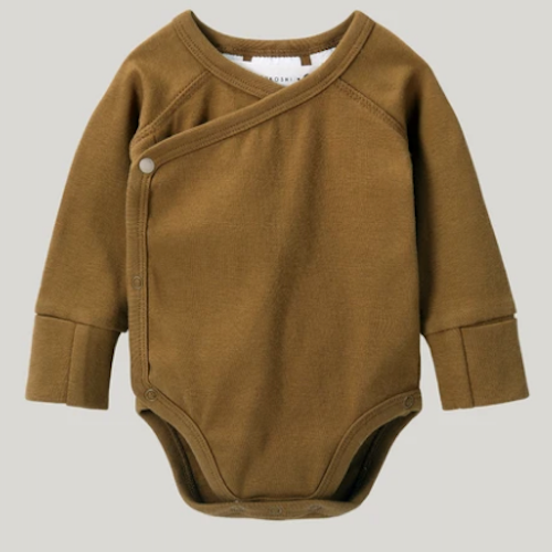 ORGANIC BODYSUIT ANTIQUE BRASS