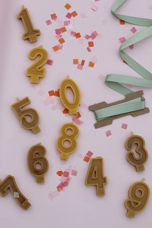 beeswax candle number