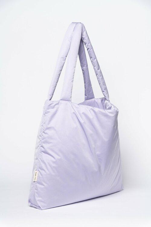 Lilac  puffy mom-bag