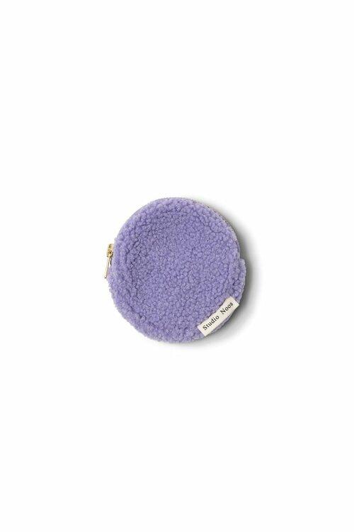 pastel lilac teddy wallet