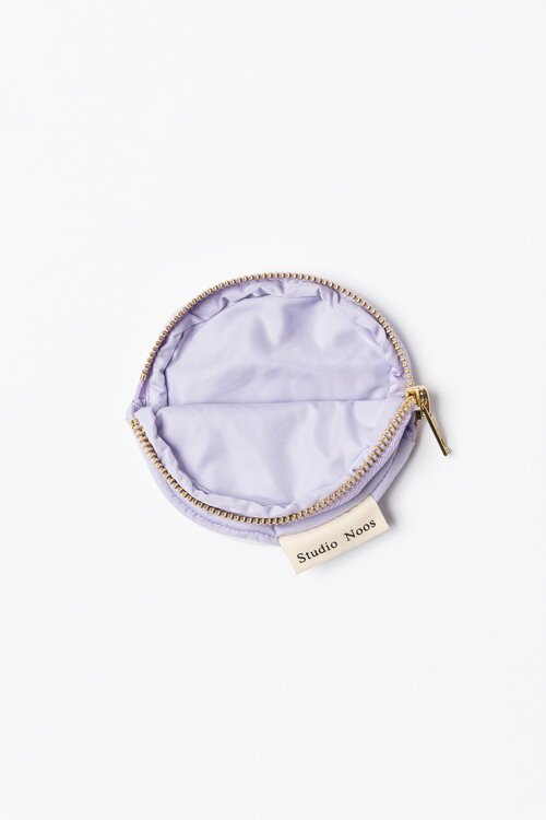lilac puffy wallet