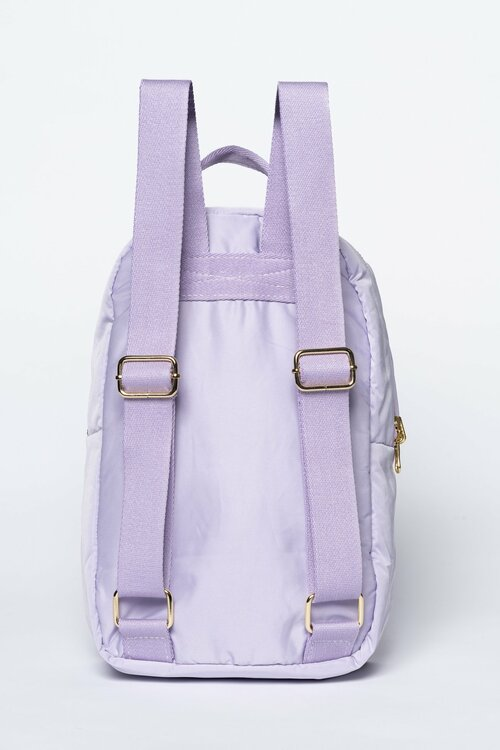 lilac puffy backpack