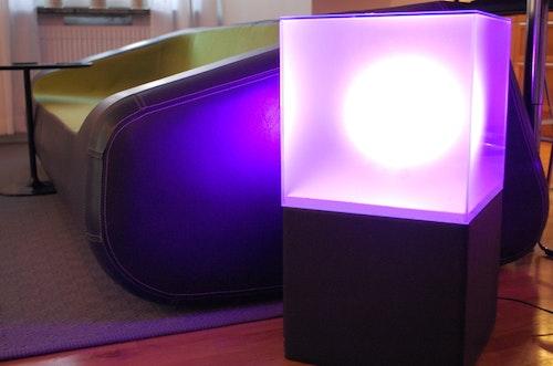 LightBox RGB LED möbler - Ljuslådor i glas