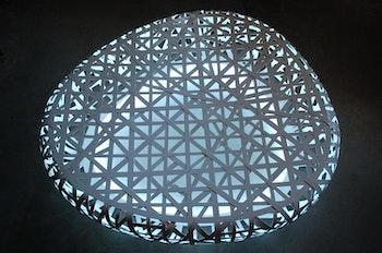 The Birds's Nest Stadium Beijing LED Steel Lounge - 160 cm