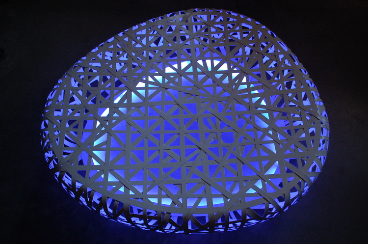 The Birds's Nest Stadium Beijing LED Steel Lounge - 160 cm