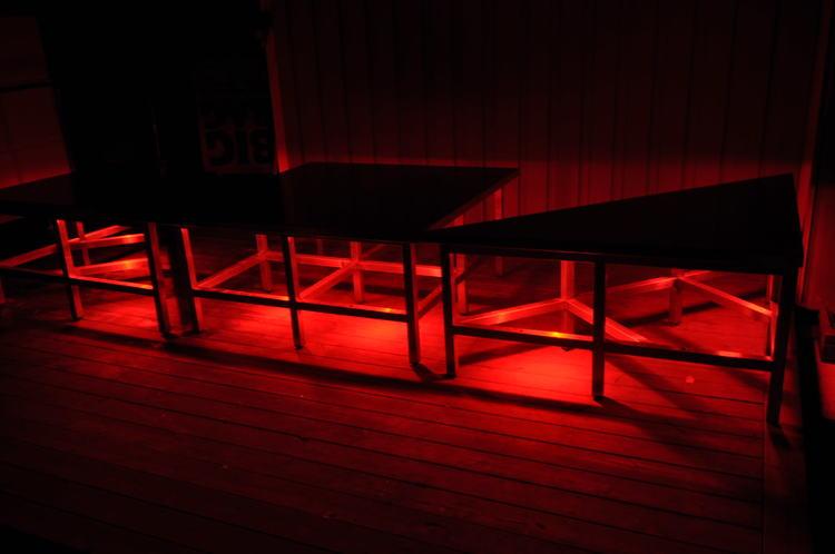 PAKET - Hyr danspodie / scen 1,5 x 1,5 meter - RGB LED