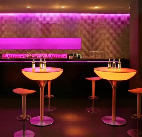 RGB LED Cocktail ståbord - Uppladdningsbara