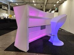 LED barstolar med fotstöd - Uppladdningsbara