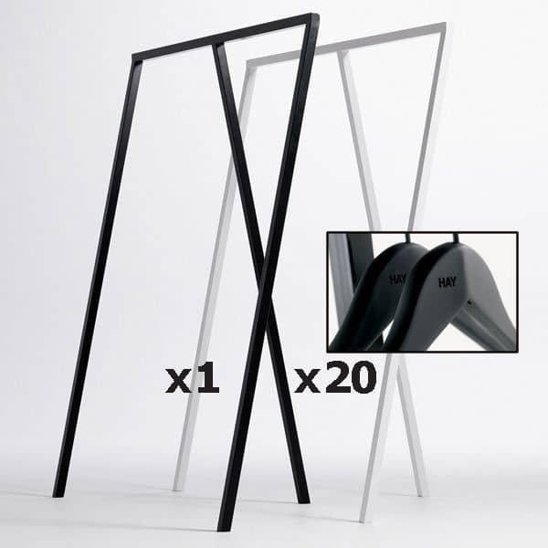 Klädhängare / klädställning, HAY Loop Stand - Svart