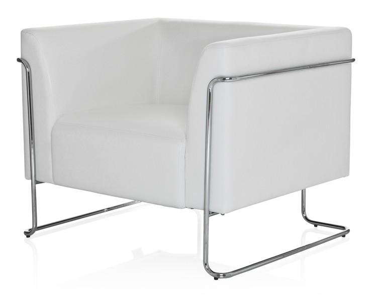 Loungefåtölj, Aero - Svart & vit