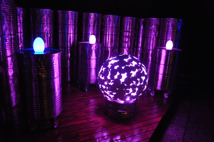 Multi LED Zero Camo Ball - 80 cm