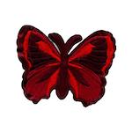 Fjäril Röd