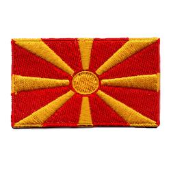 Flagga Makedonien