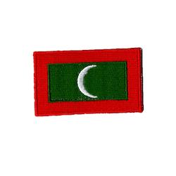 Flagga Maldiverna