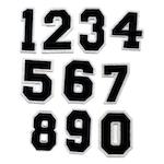 Nummer / siffror - Svart (0-9)