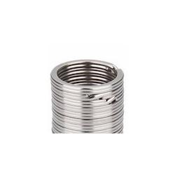 Nyckelring 32mm svart/silver (2-pack)