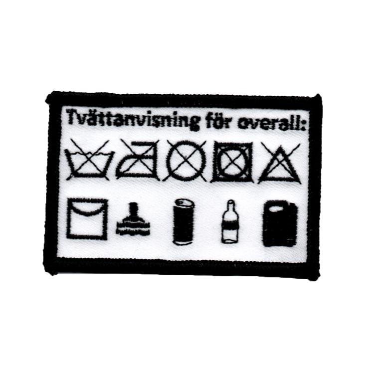 Overallstvättmärke - Tvättanvisning
