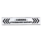 Varning - Utsvängande Bakparti (XXL)