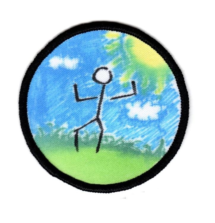 Tomt tygmärke - Enkel (cirkel)