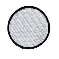 Tomt helbroderat tygmärke - Enkel (cirkel)