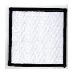 Tomt tygmärke - Enkel - Helbroderad - Kvadrat