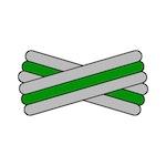 Spegatt (Silver - Kelly Green - Silver)
