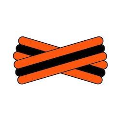 Spegatt (Orange - Black - Orange)
