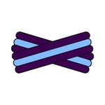 Spegatt (Purple - Light Blue - Purple)