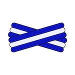 Spegatt (Royal Blue - White - Royal Blue)
