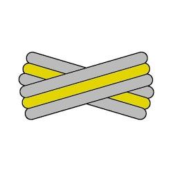 Spegatt (Silver - Yellow - Silver)