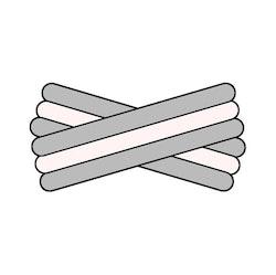Spegatt (Silver - White - Silver)
