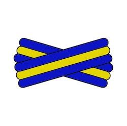 Spegatt (Royal Blue - Yellow - Royal Blue)