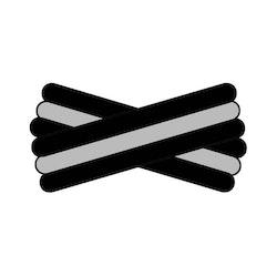 Spegatt (Black - Silver - Black)