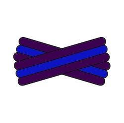 Spegatt (Purple - Royal Blue - Purple)