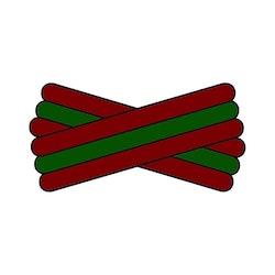 Spegatt (Maroon - Green - Maroon)