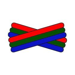 Spegatt (Red - Green - Royal Blue)
