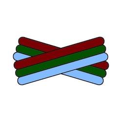 Kopia Spegatt (Maroon - Green - Light Blue)