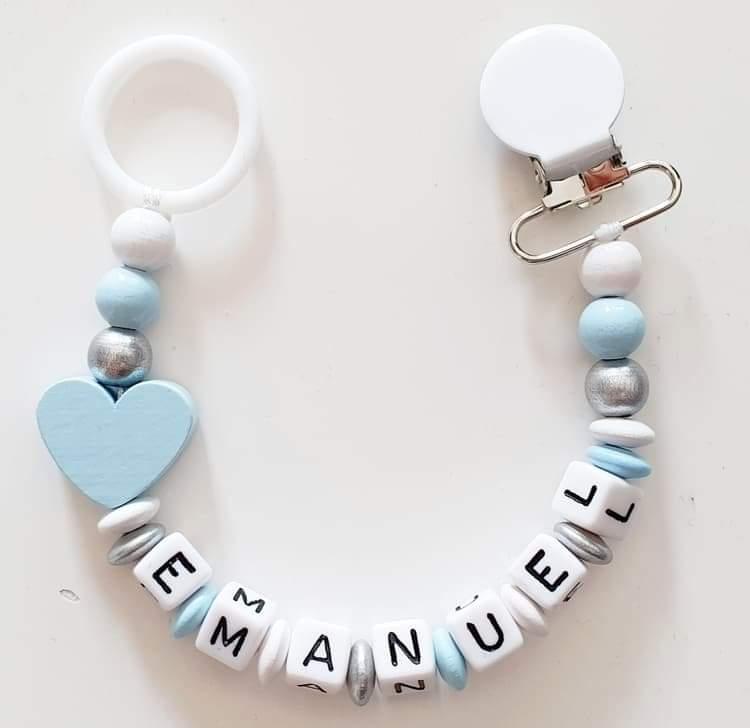 Napphållare, ljusblå hjärta